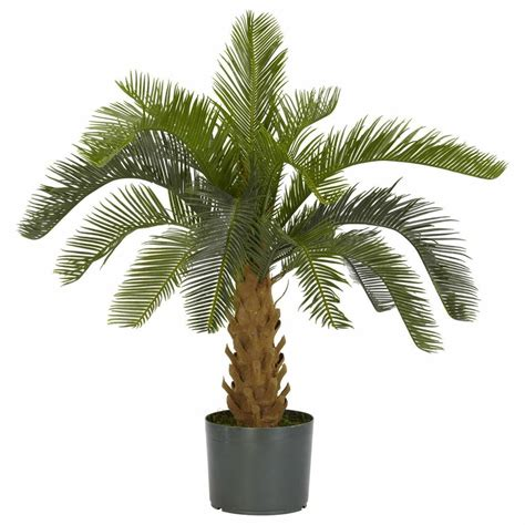 outdoor artifical palm plant tree silk plastic fake