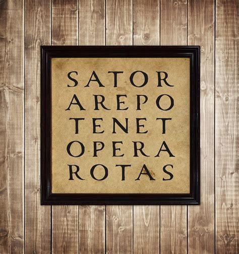 Sator Arepo Tenet Opera Rotas Square Print Occult Art ...