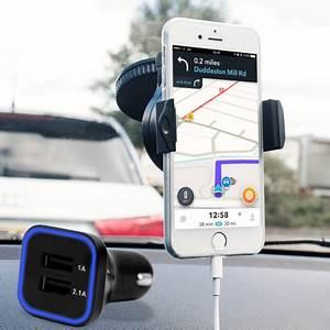 Chargeur Voiture Iphone : pack support voiture avec chargeur iphone 7 olixar drivetime avis ~ Dallasstarsshop.com Idées de Décoration