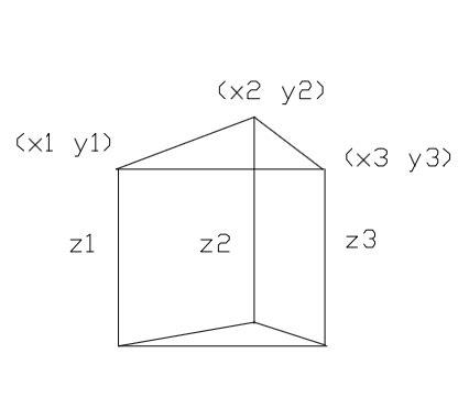 geometry   compute  volume    triangular
