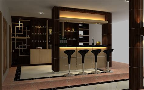 Mini Bar Design For Home by Smaller Kitchen Home Design With Bar Desk