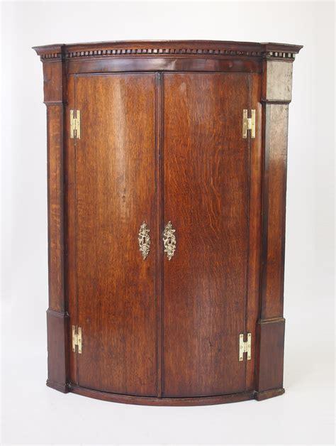 Georgian Corner Cupboard by Antique Georgian Oak Bow Front Corner Cupboard