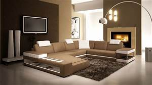 Decoration Salon Blanc Marron