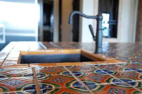 mexican tile mediterranean kitchen austin  clay