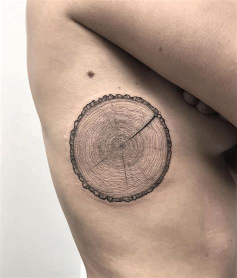 Tree Trunk Section Best Tattoo Design Ideas