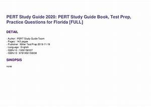 Pert Study Guide 2020  Pert Study Guide Book  Test Prep