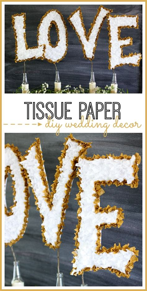 tissue paper diy wedding decor sugar bee crafts