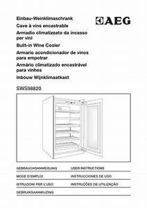 Aeg Sws98820g0 Wine Cabinet User Manual