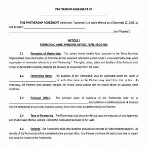 rto partnership agreement template - 15 microsoft word agreement templates free download