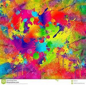 Tache De Couleur Peinture Fond Blanc : fond abstrait peinture humide color e avec l 39 effet de tache floue art num rique moderne ~ Melissatoandfro.com Idées de Décoration
