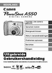 Canon A550 The Camera   Camera Download Manual For Free Now