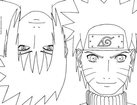 How To Draw Sasuke And Naruto Line Art Naruto