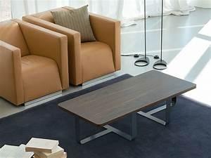 Table Basse Bois Foncé : inn2 table basse de design en m tal avec plateau en bois sediarreda ~ Teatrodelosmanantiales.com Idées de Décoration