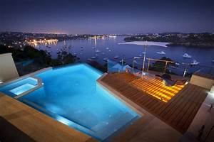 Eclairage Piscine Bois : piscine terrasse bois eclairage indirect ~ Edinachiropracticcenter.com Idées de Décoration