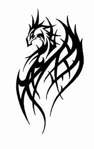 tribal dragon by primitive-art on DeviantArt