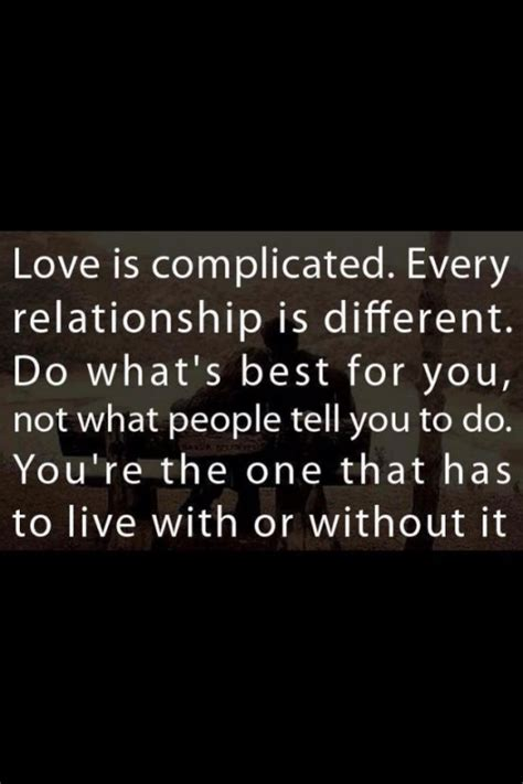 Love Quotes Complicated Relationships
