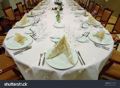 dinner table setup images table setting large dinner table set up for a lot of people stock photo 5731282 shutterstock
