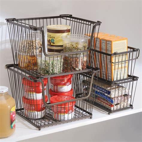 kitchen cabinet storage baskets interdesign york lyra open organizer bin contemporary 5808