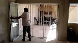 puerta plegable + reja de hierro YouTube