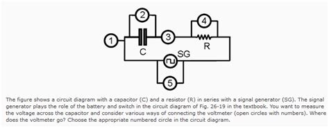 Solved The Figure Shows Circuit Diagram With Capacito