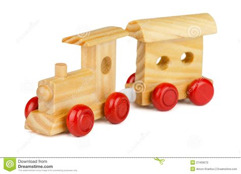 wooden toy train stock photo image  child isolated