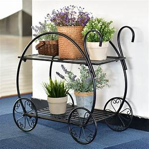 Indoor, Outdoor, Plant, Stand, Cart, Shape, Metal, Potted, Plant, Holder, Rustproof, Iron, Art, Flower, Pot