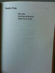 Suicide Note (perhaps a collection of suicide notes ...