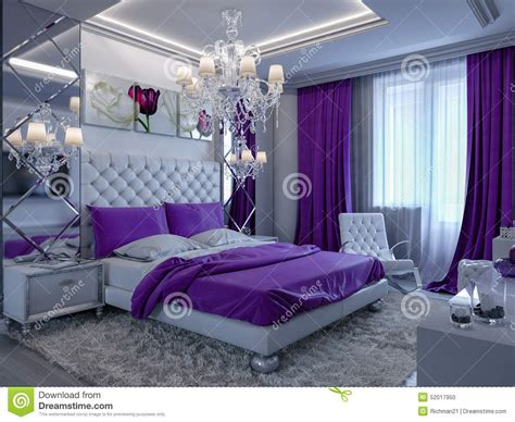 lavender bathroom ideas 3d rendering bedroom in gray and white tones with purple