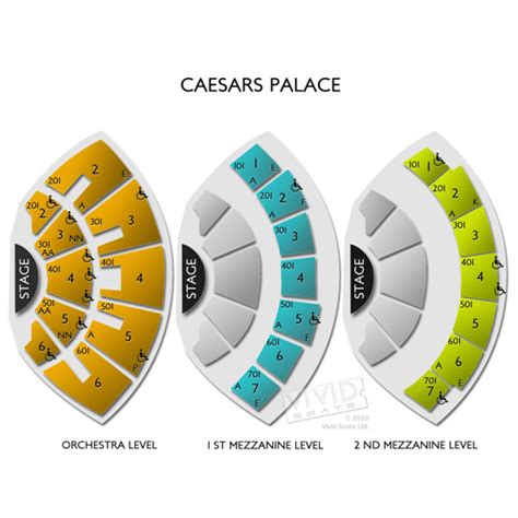 Caesars Palace Colosseum Floor Plan by Caesars Palace A Seating Guide For The Premier Las Vegas
