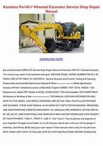 Komatsu Pw140 7 Wheeled Excavator Service Sho By John Johnchimento
