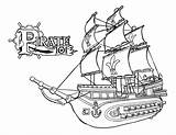 Coloring Ship Pirate Printable Designlooter Cooloring sketch template