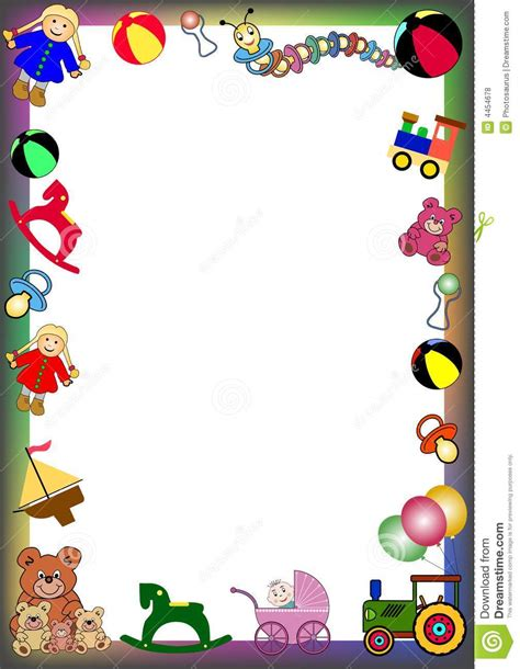 toys border stock vector illustration  element