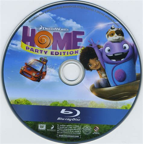 Home Bluray Dvd Cover & Label (2015) R1