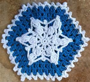 Crochet Snowflake Dishcloth Pattern