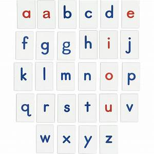 magnetic alphabet with red vowels With vinyl magnetic letters