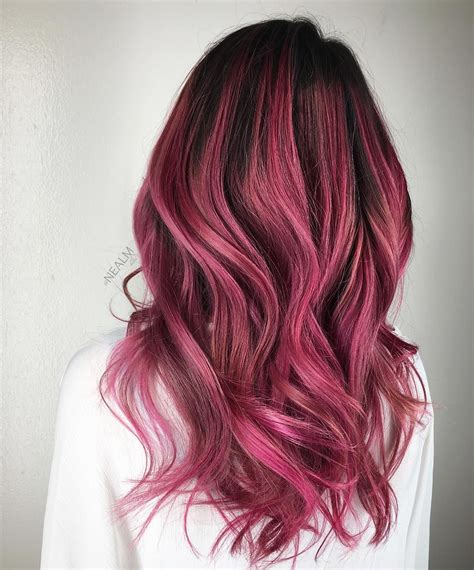 Black And Berry Ombre Hair Best Ombre Hair Dark Pink