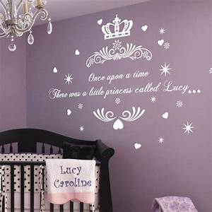 Personalised once upon a time princess name art wall