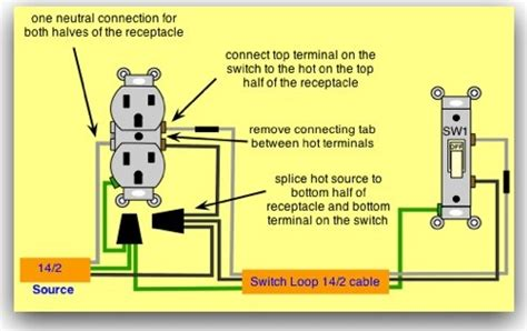 How Wire Outlet Switch Electrical Pinterest