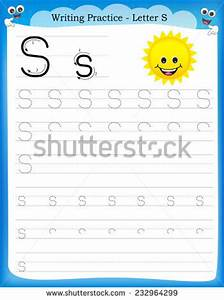 Writing Practice Letter S Printable Worksheet Stock Vector ...