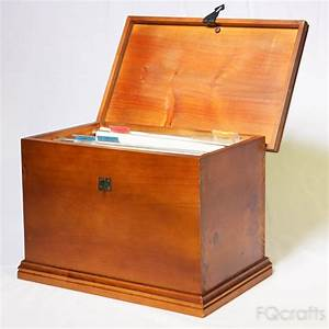 wooden secure document box With secure document storage box