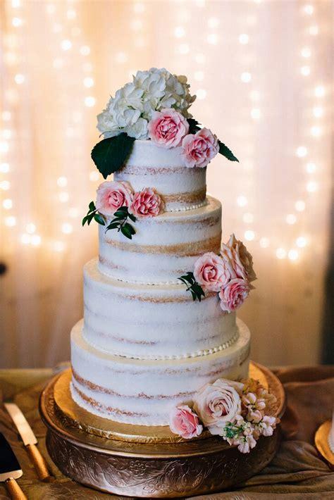 elegant  tier naked cake