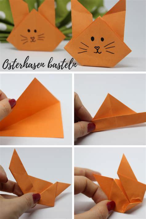 osterhasen falten origami haeschen fruehlings deko