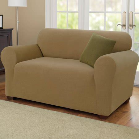 stretch settee covers sure fit stretch pearson knit sofa cover walmart