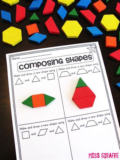 composing shapes in 1st grade geometry math