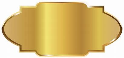 Clipart Template Label Golden Gold Tag Labels
