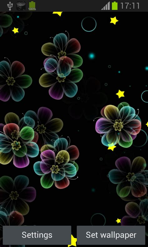 neon flowers live wallpaper android apps on play