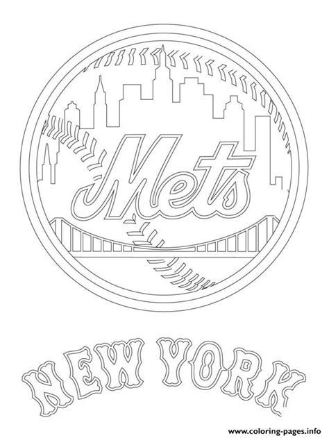 Kleurplaat Nyc by New York Mets Logo Mlb Baseball Sport Coloring Pages Printable