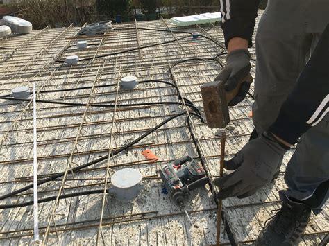 elektroinstallation leerrohre ind die betondecke legen