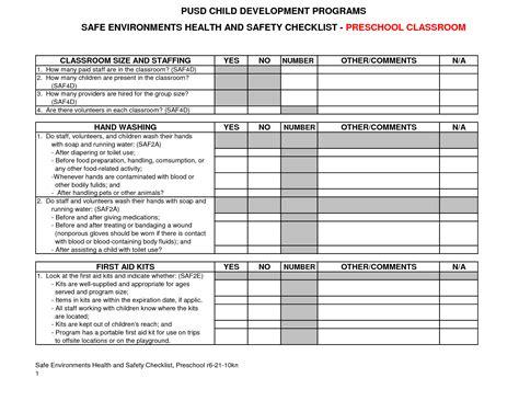checklist sample for preschool best photos of preschool ob 615 | preschool playground safety checklist 133977