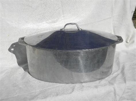 big  firestone aluminum turkey roaster vintage cookware roasting pan